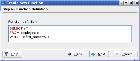 how to create function in sql