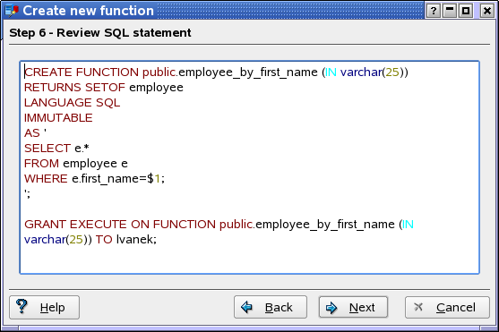 How to write sql statement